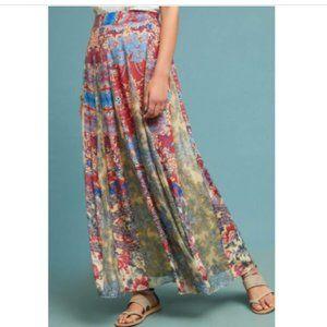 Anthropologie Hemant & Nandita Floral Maxi Skirt L